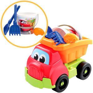 Ecoiffier Großer LKW mit Sandspielzeug Fast Car (Bunt) [Kinderspielzeug]